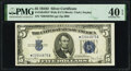 Small Size:Silver Certificates, Fr. 1654* $5 1934D Wide II Silver Certificate Star. PMG Extremely Fine 40 EPQ.. ...