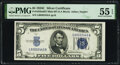 Small Size:Silver Certificates, Fr. 1653 $5 1934C Mule Wide Silver Certificate. Back Plate...