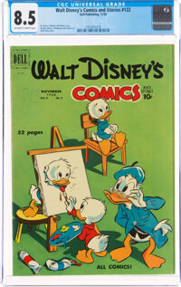 Walt Disney's Comics and Stories #122 (Dell, 1950) CGC VF+ 8.5 Off-white to white pages