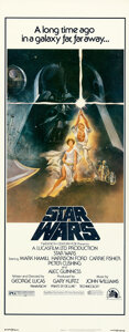 "Movie Posters:Science Fiction, Star Wars (20th Century Fox, 1977). Rolled, Near Mint. Insert (14"" X 36"") Tom Jung Artwork.. ..."