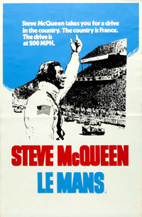 """Le Mans (20th Century Fox, 1971). Rolled, Very Fine-. British Silk Screen Double Crown (20"""" X 30"""") Tom Jung Ar..."""