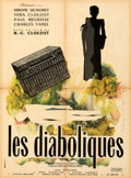 """Movie Posters:Foreign, Les Diaboliques (Cinedis, 1955). Folded, Very Fine-. French Moyenne (23.5"""" X 31.5"""") Raymond Gid Artwork.. ..."""