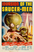 "Movie Posters:Science Fiction, Invasion of the Saucer-Men (American International, 1957). Folded, Fine/Very Fine. One Sheet (27"" X 41"") Albert Kallis Artwo..."
