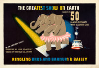 """Ringling Bros. & Barnum & Bailey Circus (c.1942). Rolled, Very Fine+. Circus Posters (2) (19.25"""" X 28""""..."""