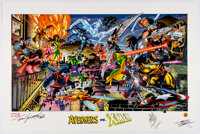 Alex Ross, John Romita Sr. and Tom Grindberg - Marvel Comics Signed Numbered Remarqued Lithograph Prints Group of 2 (Dyn...