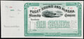 Puget Sound & Alaska Steamship Co. Stock Certificate 191_ Remainder Choice Crisp Uncirculated; Puget Sound & Ala...