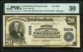 National Bank Notes:Pennsylvania, Uniontown, PA - $20 1902 Plain Back Fr. 658 The Second National Bank Ch. # 5034 PMG Very Fine 30.. ...