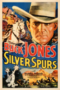 "Movie Posters:Western, Silver Spurs (Universal, 1936). Fine/Very Fine on Linen. One Sheet (27.5"" X 41"").. ..."