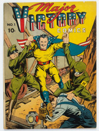 Major Victory Comics #1 (Harry 'A' Chesler, 1944) Condition: Apparent FN