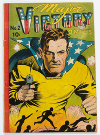 Major Victory Comics #2 (Harry 'A' Chesler, 1945) Condition: VG