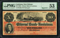 Obsoletes By State:Louisiana, New Orleans, LA- Citizens' Bank of Louisiana $10 186_ G26a Remainder PMG About Uncirculated 53.. ...