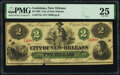 New Orleans, LA- City of New Orleans $2 Oct. 24, 1862 PMG Very Fine 25