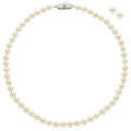 Estate Jewelry:Suites, Cultured Pearl, Silver, White Metal Suite. ...