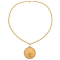 Estate Jewelry:Necklaces, US Gold Coin, Gold Pendant-Necklace. ...