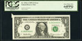 Error Notes:Foldovers, Butterfly Fold Error Fr. 1924-A $1 1999 Federal Reserve Note. PCGS Very Choice New 64PPQ.. ...
