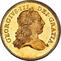 Great Britain: George III gold Proof Pattern 5 Guineas 1773 PR64 Cameo NGC