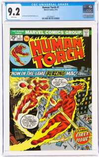 The Human Torch #1 (Marvel, 1974) CGC NM- 9.2 White pages