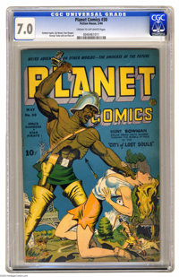 Planet Comics #30 (Fiction House, 1944) CGC FN/VF 7.0 Cream to off-white pages. Graham Ingels, Lily Renee, George Tuska...