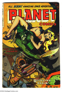 Planet Comics #72 (Fiction House, 1953) Condition: VG+. Overstreet 2004 VG 4.0 value = $78