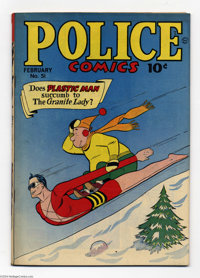 Police Comics #51 (Quality, 1946) Condition: GD/VG. Plastic Man, the Human Bomb, Manhunter, and the Spirit appear. Jack...