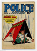 Golden Age (1938-1955):Superhero, Police Comics #52 (Quality, 1946) Condition: VG. Plastic Man, the Human Bomb, the Spirit, and Manhunter appear. Jack Cole co...