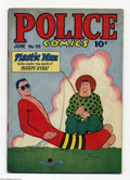 Golden Age (1938-1955):Superhero, Police Comics #55 (Quality, 1946) Condition: VG. Plastic Man, the Spirit, Human Bomb, and Manhunter appear. Jack Cole cover ...
