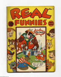 Real Funnies #1 (Nedor Publications, 1943) Condition: GD/VG. Overstreet 2004 GD 2.0 value = $34; VG 4.0 value = $68