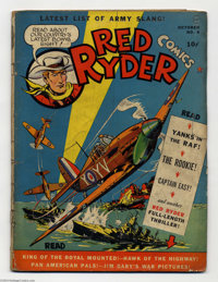 Red Ryder Comics #4 (Hawley Publications, 1941) Condition: GD+. Overstreet 2004 GD 2.0 value = $41