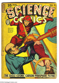 Science Comics #7 (Fox, 1940) Condition: GD+. Dynamo appears. Overstreet 2004 GD 2.0 value = $92