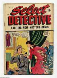 Select Detective #1 (D.S. Publishing, 1948) Condition: VG. Matt Baker art. Overstreet 2004 VG 4.0 value = $58