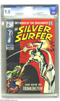 """Silver Age (1956-1969):Superhero, The Silver Surfer #7 (Marvel, 1969) CGC VF/NM 9.0 White pages. Final 25-cent double-sized issue. Last """"Tales of the Watcher""""..."""