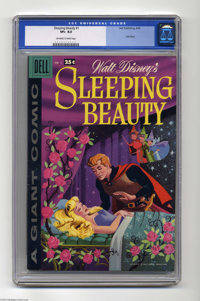 Sleeping Beauty (Dell Giant) #1 (Dell, 1959) CGC VF+ 8.5 Off-white to white pages. Square bound giant; Walt Disney anima...
