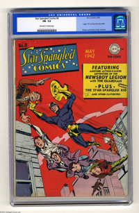 Star Spangled Comics #8 (DC, 1942) CGC FN- 5.5 Off-white to white pages. Starring the Guardian and Newsboy Legion. Origi...