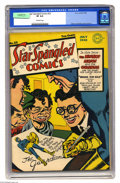 Golden Age (1938-1955):Superhero, Star Spangled Comics #22 (DC, 1943) CGC VF 8.0 Off-white pages. Incredible Joe Simon and Jack Kirby cover (and interior art)...
