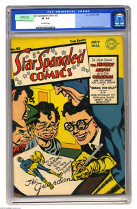 Star Spangled Comics #22 (DC, 1943) CGC VF 8.0 Off-white pages. Incredible Joe Simon and Jack Kirby cover (and interior...