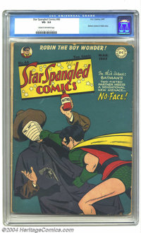 Star Spangled Comics #66 (DC, 1947) CGC VG- 3.5 Cream to off-white pages. Robin cover and story, with the Boy Wonder fig...