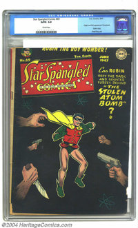 Star Spangled Comics #69 (DC, 1947) CGC GD/VG 3.0 Cream pages. Origin and first appearance of Tomahawk; Robin cover and...