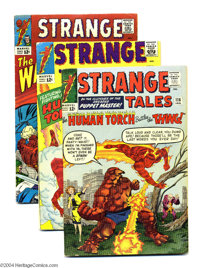 Strange Tales Group (Marvel, 1964-67) Condition: Average VG. The Human Torch, Doctor Strange, and Nick Fury, Agent of S...