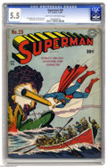 Golden Age (1938-1955):Superhero, Superman #20 (DC, 1943) CGC FN- 5.5 Light tan to off-white pages. Jack Burnley's striking war cover has Superman saving some...