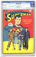 Golden Age (1938-1955):Superhero, Superman #29 (DC, 1944) CGC FN- 5.5 Light tan to off-white pages. Lois Lane cover appearance. Prankster story. Overstreet 20...