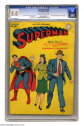Golden Age (1938-1955):Superhero, Superman #30 (DC, 1944) CGC VG/FN 5.0 Off-white to white pages. Origin and first appearance of Mr. Mxyztplk. Cover by Jack B...