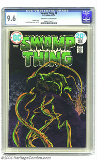 Swamp Thing #8 (DC, 1974) CGC NM+ 9.6 Off-white to white pages. Bernie Wrightson cover and art. Len Wein story. Ties as...