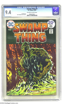 Swamp Thing #9 (DC, 1974) CGC NM 9.4 Off-white to white pages. Bernie Wrightson cover and art. Overstreet 2004 NM- 9.2 v...