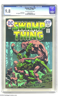 Swamp Thing #10 (DC, 1974) CGC NM/MT 9.8 Off-white to white pages. Bernie Wrightson cover and art. Last Wrightson issue...
