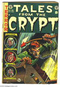 Golden Age (1938-1955):Horror, Tales From the Crypt #38 (EC, 1953) Condition: VG+. Jack Daviscover which was (self-)censored prior to publication. Bill El...