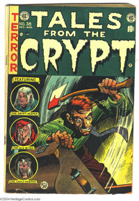 Tales From the Crypt #38 (EC, 1953) Condition: VG+. Jack Davis cover which was (self-)censored prior to publication. Bil...