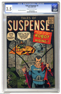 Tales of Suspense #2 (Marvel, 1959) CGC VG- 3.5 Cream to off-white pages. Shades of Isaac Asimov! This Steve Ditko cover...