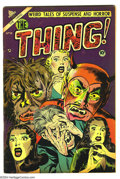 "Golden Age (1938-1955):Horror, The Thing! #10 (Charlton, 1953) Condition: FN. ""Injury to eye""panel. Necronomicon story. Sid Check art. Overstreet 2004 FN ..."