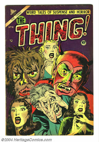 """The Thing! #10 (Charlton, 1953) Condition: VG+. """"Injury to eye"""" panel. Necronomicon story. Sid Check art. Over..."""