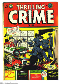 Thrilling Crime Cases #47 (Star Publications, 1952) Condition: FN+. Used in Parade of Pleasure. L. B. Cole cover. Overst...